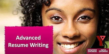 Advanced Resume Writing tickets