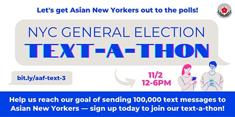 NYC General Election Text-a-thon Tickets