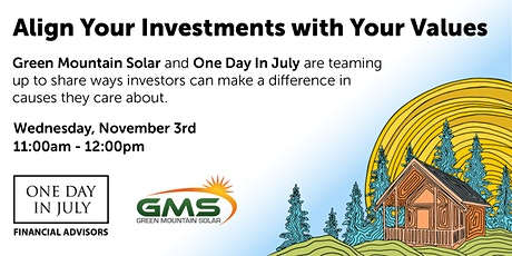 Align Your Investments With Your Values tickets