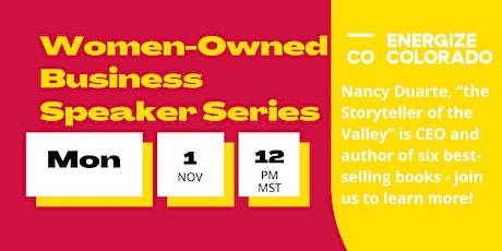 Women-Owned Business Speaker Series: Nancy Duarte tickets