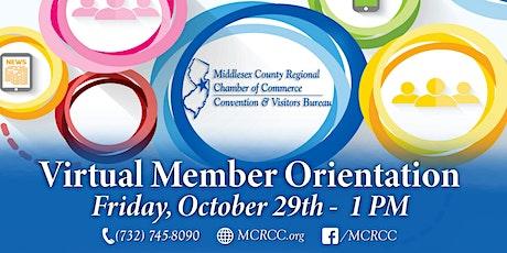 October Member Orientation tickets