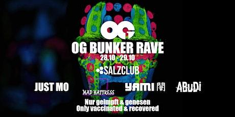 OG BUNKER RAVE 09 - UV HALLOWEEN EDITION (2G) tickets