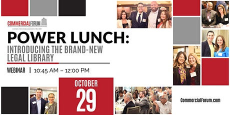 CommercialForum Power Lunch: Introducing the Brand-New Legal Library tickets