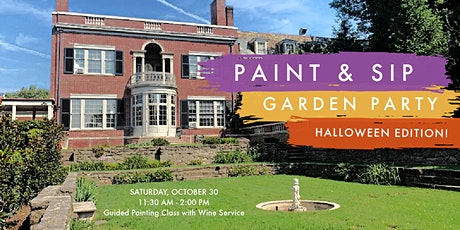 Paint & Sip Garden Party at The Woodrow Wilson House: Halloween Edition! tickets