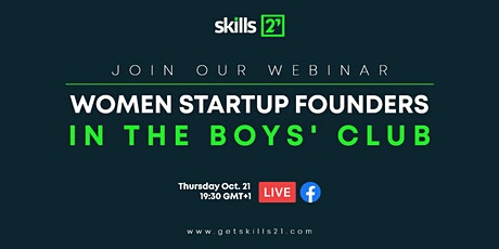 Women startup founders in the boys' club Tickets
