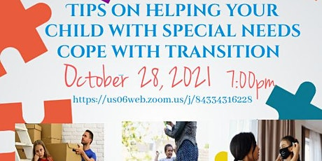 Tips on Helping Your Child with Special Needs Cope with Transition tickets