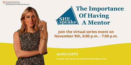 SHE Speaks - The Importance of Having a Mentor tickets