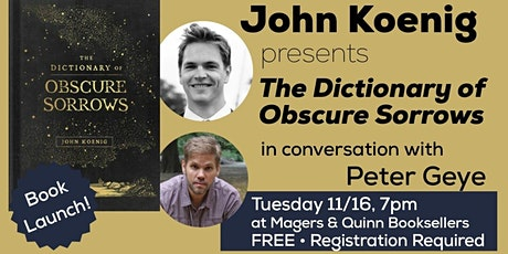 John Koenig presents The Dictionary of Obscure Sorrows tickets