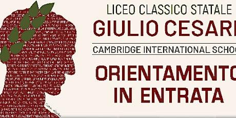 Open Day Liceo Giulio Cesare Roma biglietti