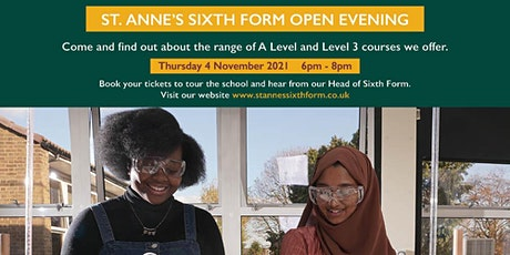 St. Anne's Catholic High School for Girls - Sixth Form Open Evening 2021 tickets
