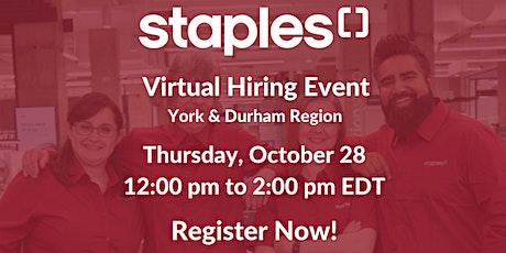 Staples Canada Hiring Event - York/Durham Region tickets