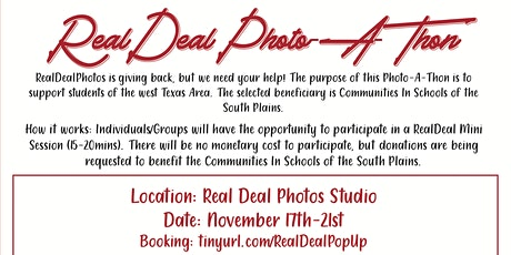 RealDeal Photo-A-Thon tickets
