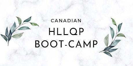 CANADIAN HLLQP CRASH COURSE CLASSES IN ENGLISH  (October 22-24, 2021) tickets