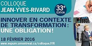 33e Colloque JYR : INNOVER EN CONTEXTE DE...