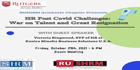 HR Post COVID Challenges: War on Talent and the Great Resignation tickets