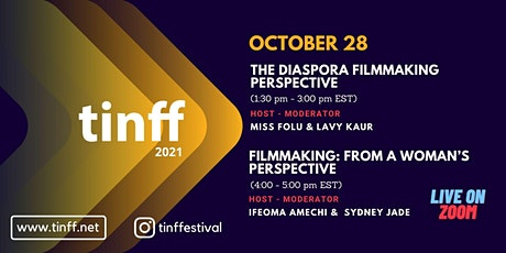 TINFF Roundtable #3 and #4; Filmmaking from Diaspora & Woman's perspective tickets