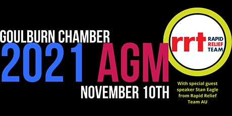 Zoom Goulburn Chamber of Commerce  2021 AGM tickets