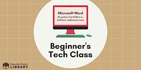 Beginner's Technology Class tickets