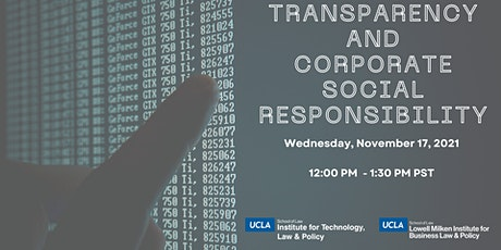 Panel: Transparency and Corporate Social Responsibility tickets