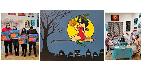 """BYOB Paint and Sip Event - """"Witch on a Broom"""" tickets"""