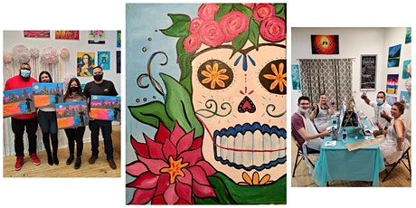 """BYOB Paint and Sip Event - """"Day Of The Dead Skull"""" tickets"""