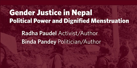 Gender Justice in Nepal: Political Power and Dignified Menstruation tickets