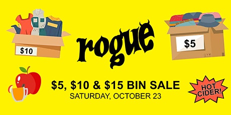 Rogue Fall Vintage Blowout Sale - $5 and $10 Bins! tickets