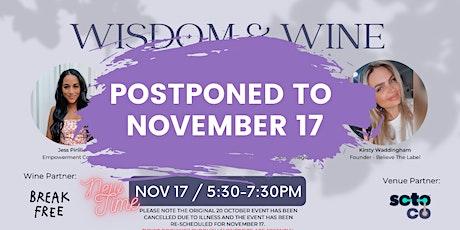 Wisdom & Wine Wednesdays tickets