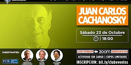 Homenaje a Juan Carlos Cachanosky. Sábado  23 de octubre, 18 hs. entradas