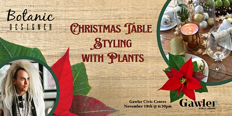 Christmas Table Styling with Plants tickets