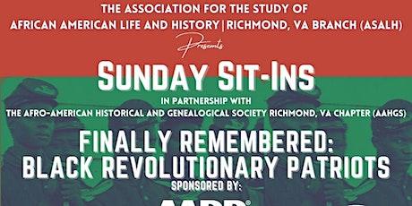 Finally Remembered: Black Revolutionary Patriots tickets