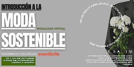 Introducción a la moda Sostenible curso ONLINE entradas