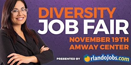 11/19 OrlandoJobs.com Diversity Job Fair Employer Registration-AMWAY CENTER tickets