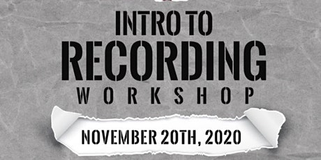 Intro to Recording Training tickets