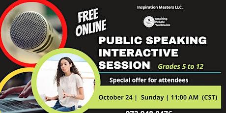 Public Speaking Interactive Session - FREE Online billets