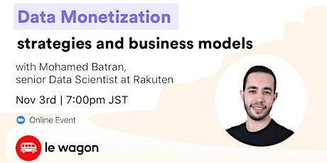 Data Monetization: strategies and business models - Online Talk Tickets
