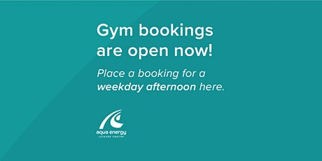 Weekday Afternoon Gym Booking (55 minutes) tickets
