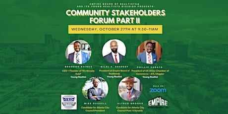 Community Stakeholders Forum Part II tickets