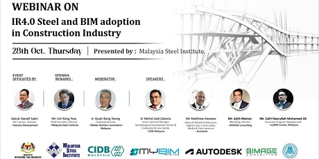 IR 4.0 Steel and BIM Adoption in Construction Industry bilhetes