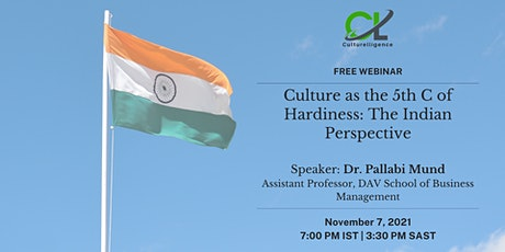 [WEBINAR] Culture as the 5th C of Hardiness: The Indian Perspective bilhetes