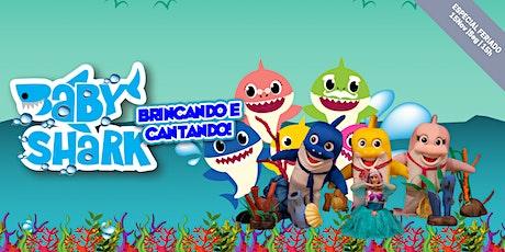 Desconto no Feriado! Baby Shark Brincando e Cantando, no Teatro BTC ingressos