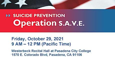SAVE Training hosted by CSULA Rehabilitation Counseling Association (RCA) boletos