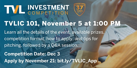 TVLIC 101: Texas Venture Labs Investment Competition Info & Pitch Tips tickets