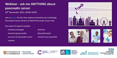 Webinar - ask me ANYTHING about pancreatic cancer Tickets