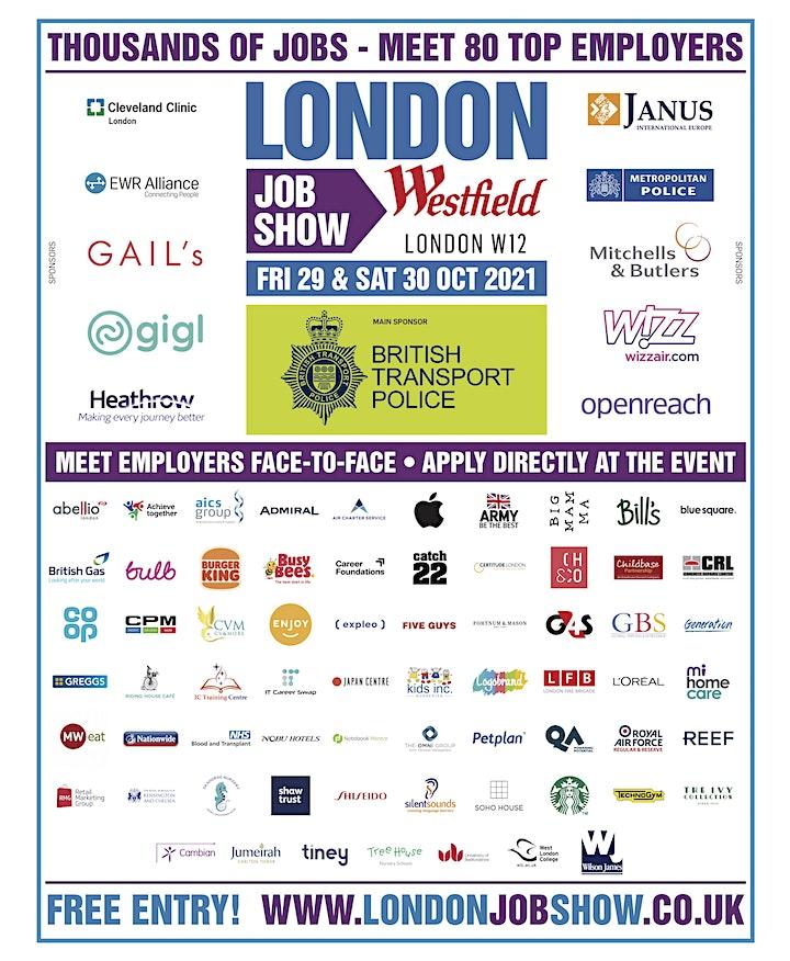 London Job Show   Careers & Job Fair image