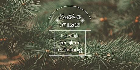 Kerstshoot tussen de dennebomen tickets