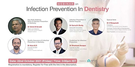 Infection Prevention in Dentistry tickets