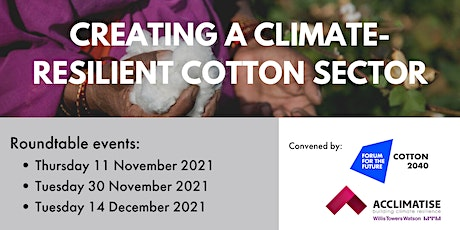 Creating a climate-resilient cotton sector| Roundtable events tickets