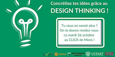 Workshop - Innove et concrétise tes idées grâce au Design Thinking ! tickets