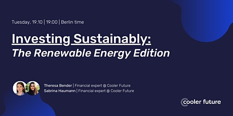 Investing Sustainably: The Renewable Energy Edition tickets